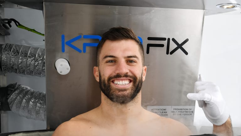 Cutting-edge technology: James Tedesco steps into the chamber.