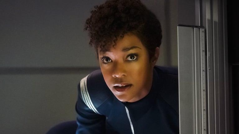 Sonequa Martin-Green as first officer Michael Burnham in Star Trek: Discovery.
