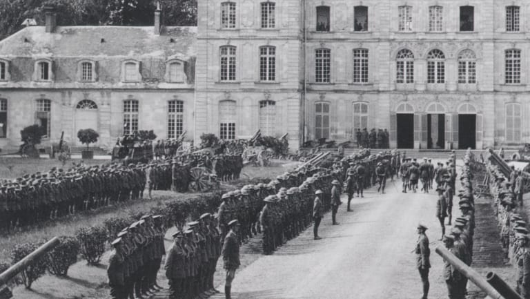The Australian Corps Headquarters was in the Château de Bertangles.