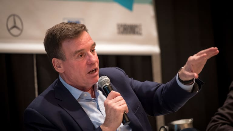 Senator Mark Warner at the South by SouthWest conference in Austin.