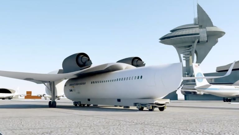 The Link&Fly aircraft design has wings that come off to hasten turnover at airports and make boarding easier and closer to passengers' homes, its inventor claims.