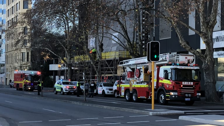 The fire at the Exchange Tower was reported just after 10am.