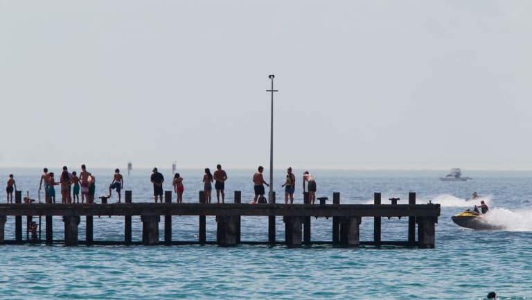 A man drowned at popular Rye beach on the Mornington Peninsula.