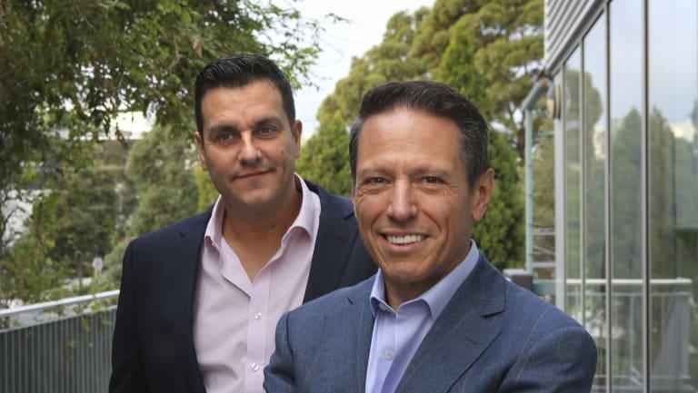 Noni B chairman Richard Facioni (right) and CEO Scott Evans  (left).
