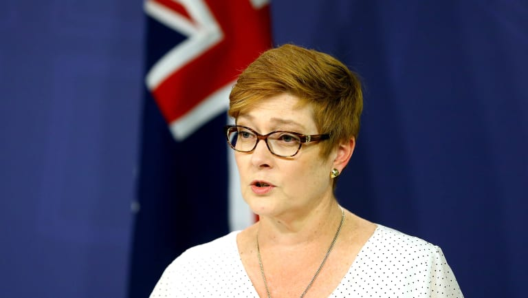 Defence Minister Marise Payne said the strikes were not seeking to escalate the conflict in Syria.