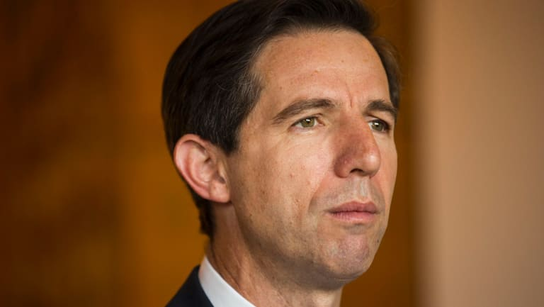 """Parents need """"to think what more they can do at home to help"""", federal Education Minister Simon Birmingham said."""