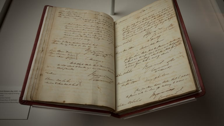 Life in Irons exhibition at the Museum of Brisbane, including the Book of Trials (pictured).