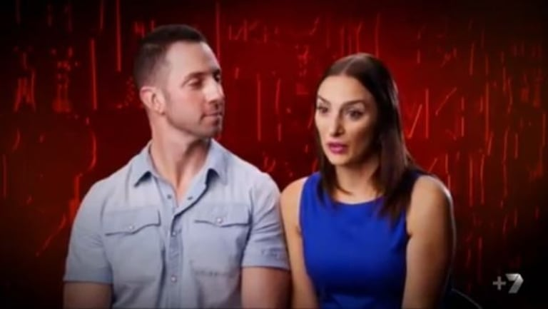 My Kitchen Rules contestants Carmine and Lauren Finelli.