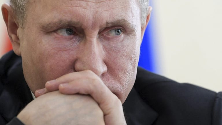 Vladimir Putin: waging a covert war?