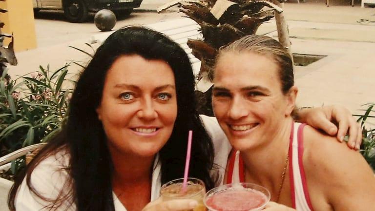 Belinda and Helen on holiday in Spain.