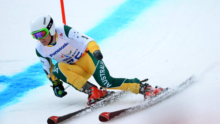 Mitch Gourley in action at the Sochi Games.