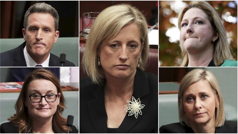 Clockwise from top left: Josh Wilson, Katy Gallagher, Rebekha Sharkie, Susan Lamb and Justine Keay.