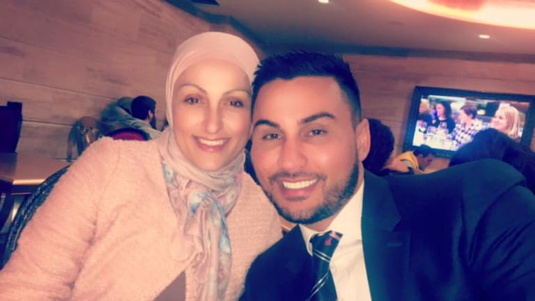 Zenah Osman pictured with her brother Salim Mehajer.