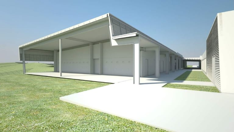 The simunition building at the Westgate police complex, which will include a virtual reality room and a scenario house.