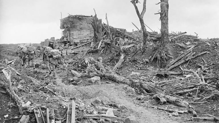 The devastated area near  Pozieres.