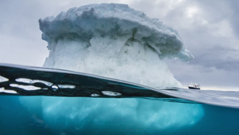 An iceberg off Antarctica.