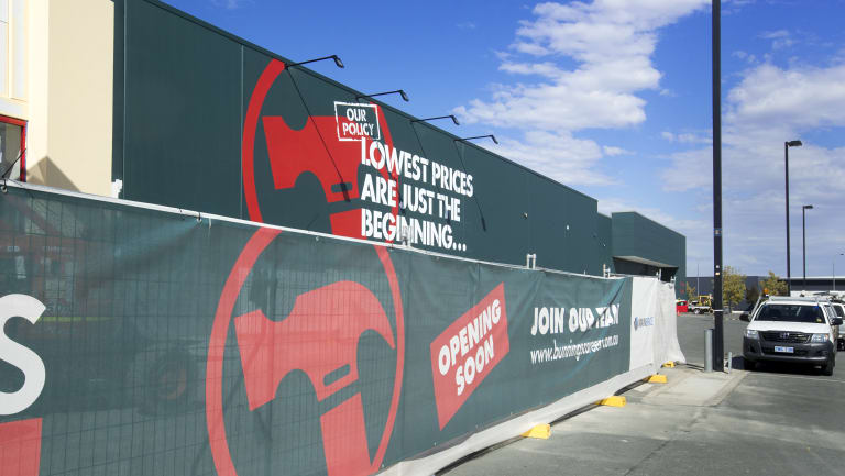Final touches. Bunnings Warehouse Canberra Airport to open at the end of May