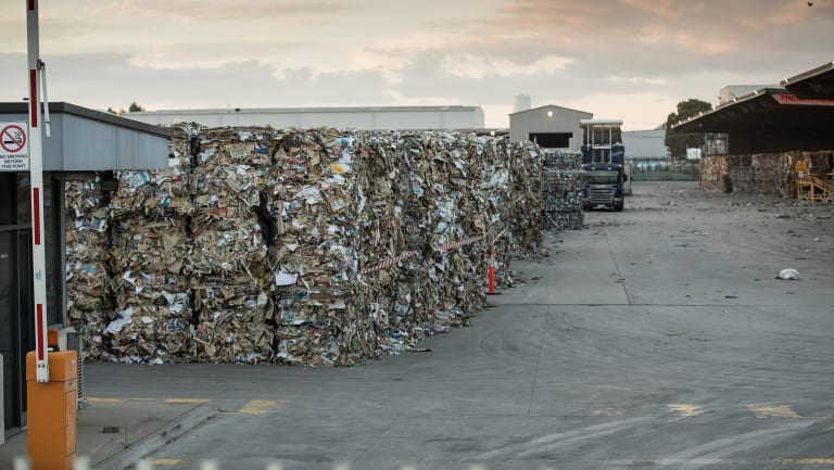 China's ban has caused a glut of recyclable waste in Australia.