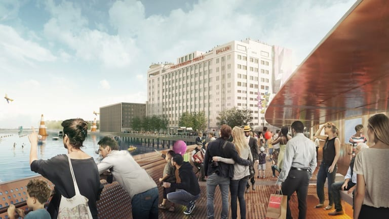 An artist's impression of Millennium Mills in Silvertown Quays, East London, to be developed by Lendlease and Starwood.