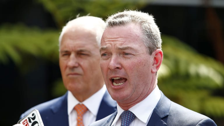Prime Minister Malcolm Turnbull and Defence Industry Minister Christopher Pyne on Monday.