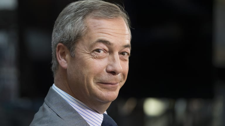 Nigel Farage, former leader of the UK Independence Party, is coming to Australia.