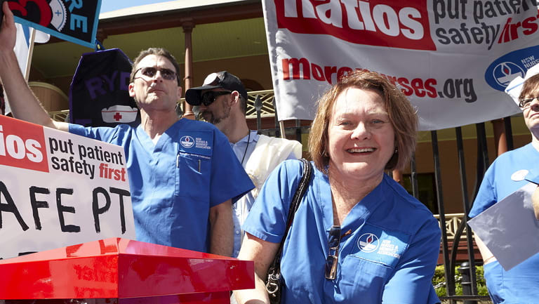 The nurses union argues industrial action successfully altered ratios.
