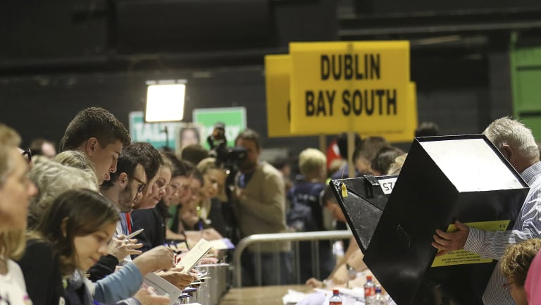 Official counting began on Saturday in Ireland's historic abortion rights referendum.