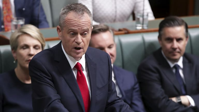 Opposition Leader Bill Shorten delivers his budget reply speech on Thursday night.