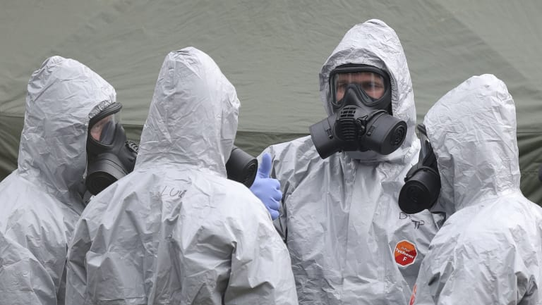 Military personnel continue their investigation into the poisoning of former Russian spy Sergei Skripal and his daughter in Salisbury, England.