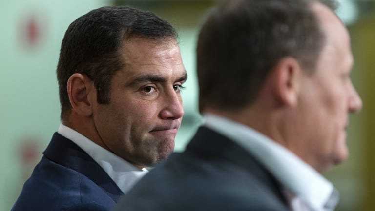 Stepping down: Cameron Smith made his decision to retire from representative football on Tuesday.