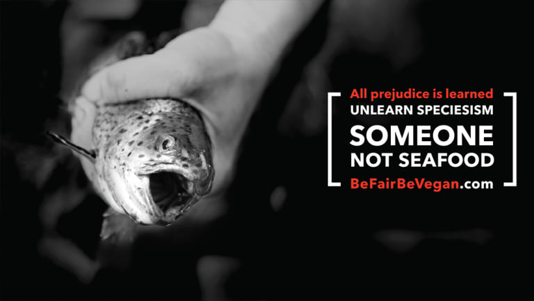 Be Fair Be Vegan campaign.