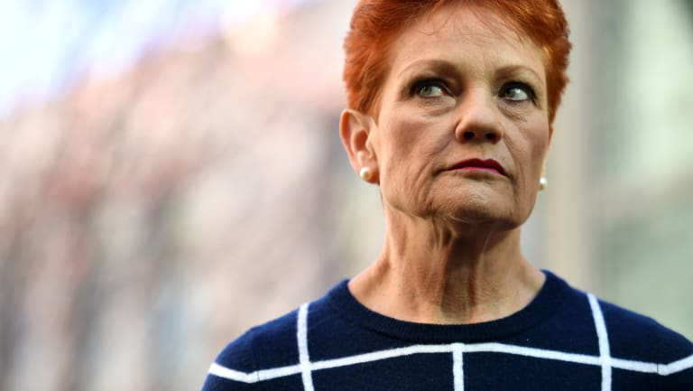 One Nation leader Senator Pauline Hanson.