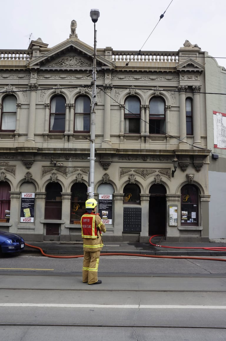 Fire at the Fitzroy Pinnacle St.Georges Road, North Fitzroy