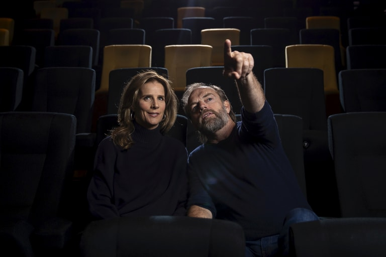 Rachel Griffiths and Hugo Weaving at ACMI for Series Mania.
