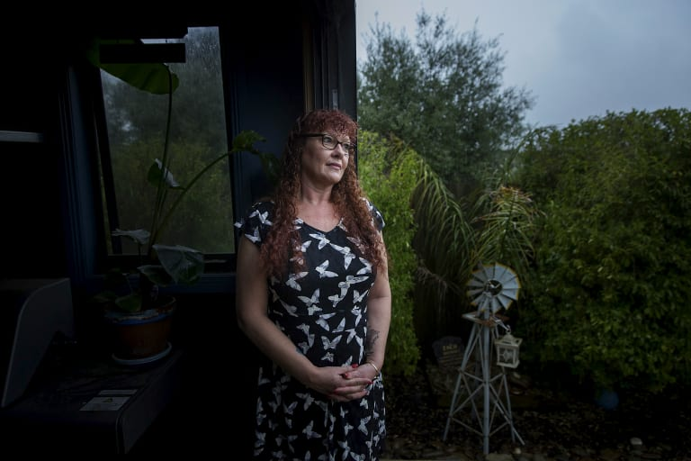 Nicci Wall, who is bipolar, is not considered eligible for NDIS, but is no longer able to access the community  mental health services as they are now funded to help only those with an NDIS plan.