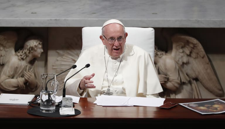 "Pope Francis says he shared the ""pain and shame"" of the Catholic Church."