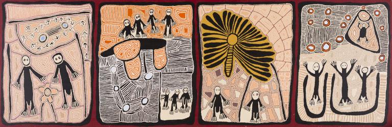 Lynda Siddick Napaltjinpa, <i>Untitled</i>, 2013 in<i>Western Desert Sublime: The Craig Edwards Gift to the ANU</i>.