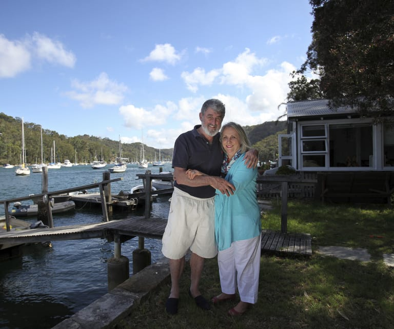 Nicholas Cowdery, the former NSW Director of Public Prosecutions, pictured in 2013 with his wife Joy at Pittwater on Sydney's northern beaches.