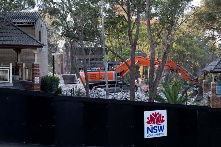 Demolition of public housing at Ivanhoe Estate began in April.