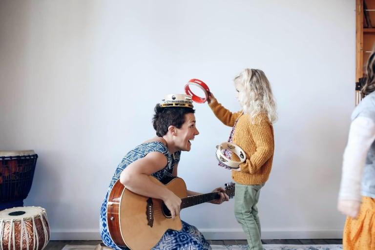 Music therapist Allison Davies enjoys helping people heal through sound.