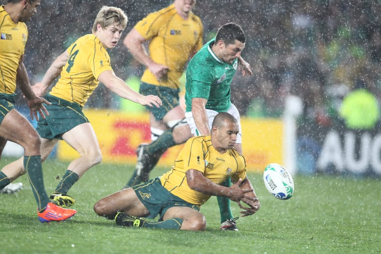 Dark day: Will Genia during the 2011 World Cup loss to Ireland.