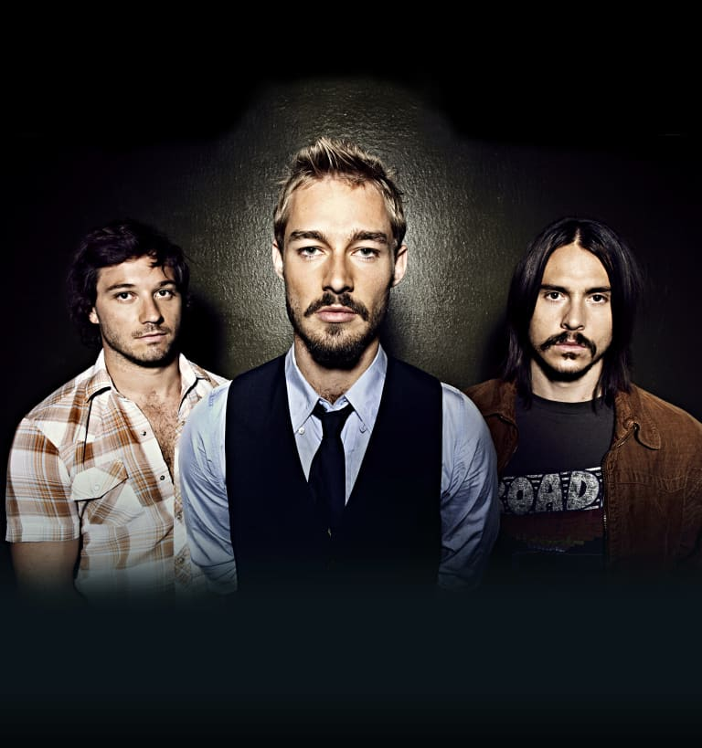 Bad blood: the former Silverchair line-up Chris Joannou, Daniel Johns and Ben Gillies.