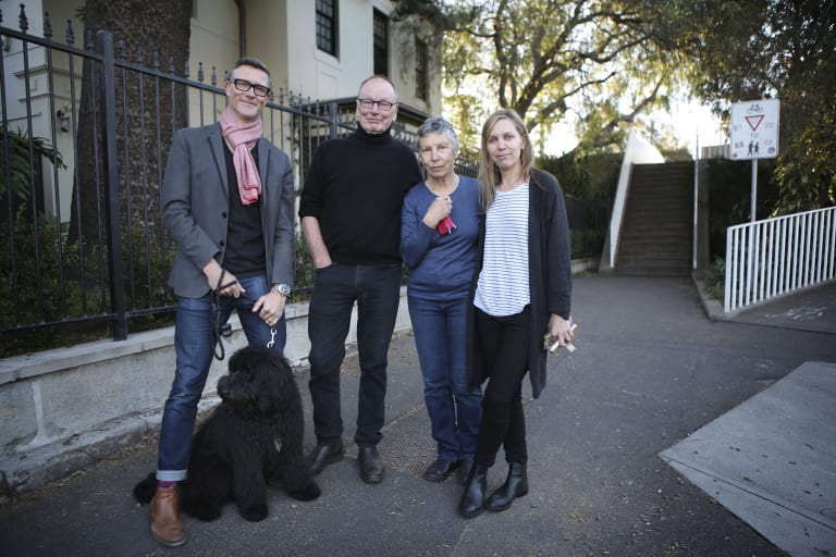 Howard Parry-Husbands (pictured with John, Anna and Lucy Bell), are concerned by high-rise development in Bondi Junction.