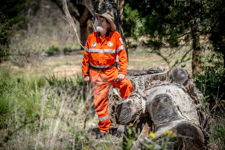 "Graeme ""Duck"" Tonge, pictured above, has chalked up 50 years service to the ACT SES - the first volunteer to reach the milestone."