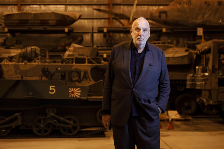 Director Phillip Noyce visited the Australian War Memorial Treloar facility on Thursday to conduct research for his latest film depicting the Rats of Tobruk.