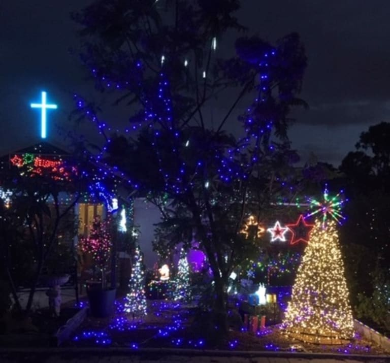 The family had to rebuild their Christmas lights display after vandals tried to destroy their five-year tradition.