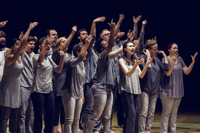 Voices soared to the heavens during the performance of <i>Lagrime di San Pietro</I>.