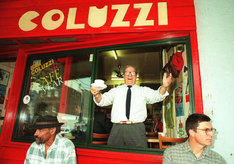 The late Luigi Coluzzi, owner of the original Bar Coluzzi in Darlinghurst.