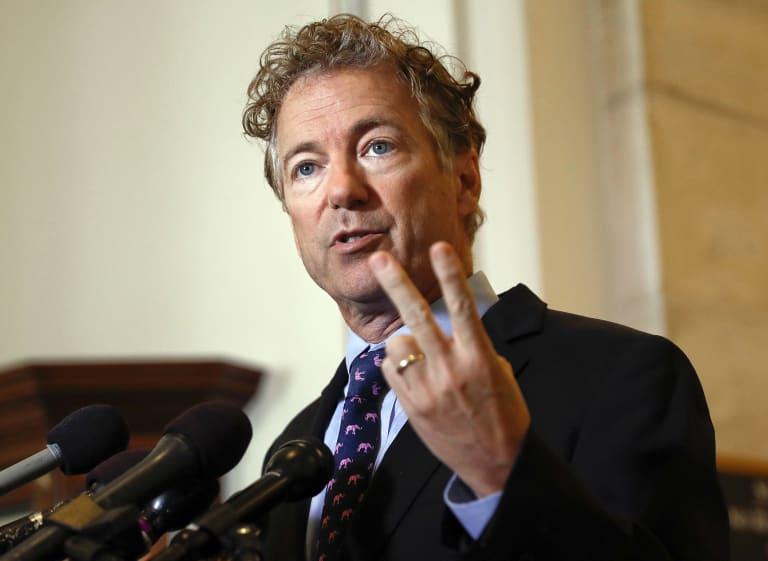 Senator Rand Paul has delayed US Senate on spending legislation.