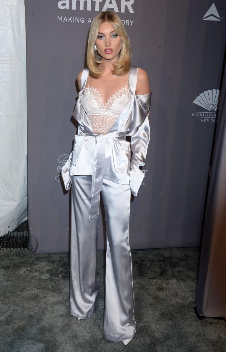 Elsa Hosk at the amfAR Gala in New York City.